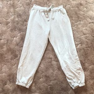 Light heather grey jogger sweatpants